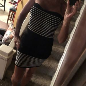 Wet real bandage type dress.  Really cute